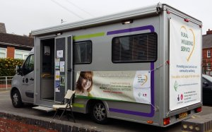 Rural Wellbeing Servce bus to visit Cogenhoe
